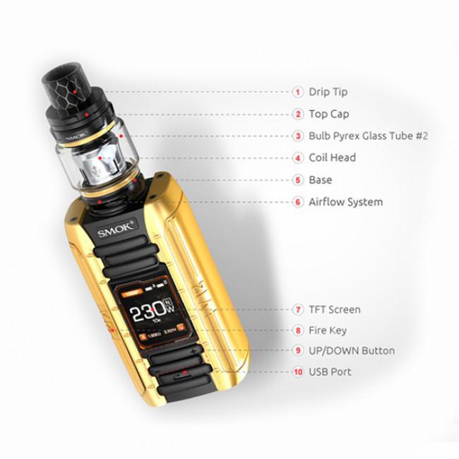 SMOK E-PRIV 230W TC KIT MED TFV12 P-TANK