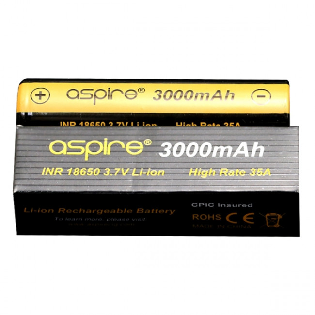 ASPIRE 18650 3000MAH BATTERI