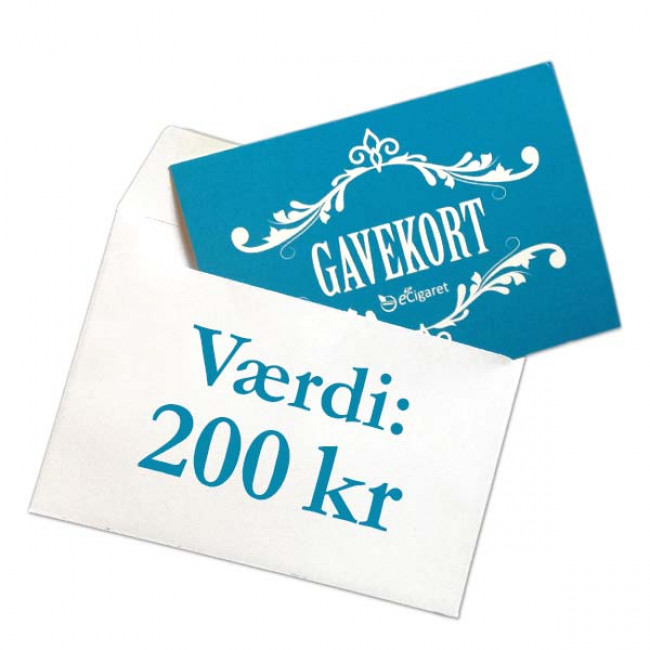Din eCigaret gavekort 200 kr