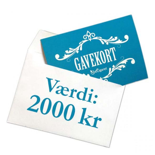 Din eCigaret gavekort 2000 kr