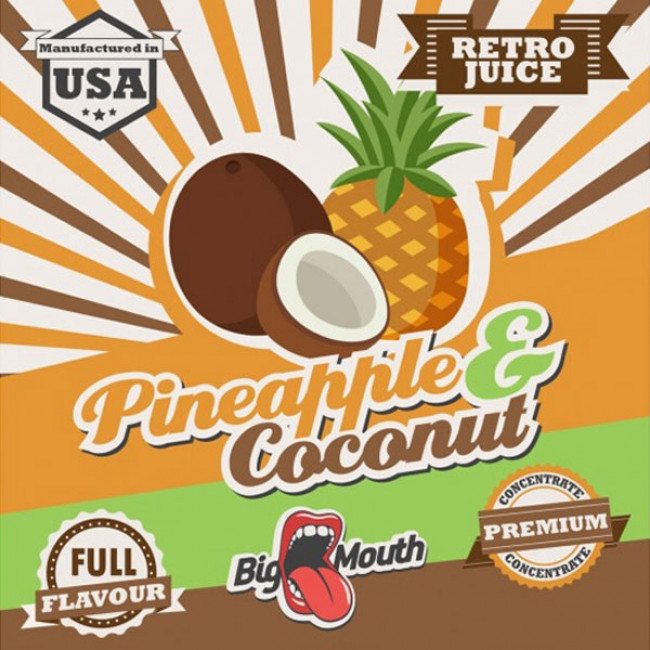 BIG MOUTH RETRO JUICE PINEAPPLE AND COCONUT AROMA