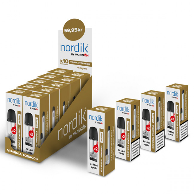 NORDIK E-PODS - VIRGINIA TOBACCO