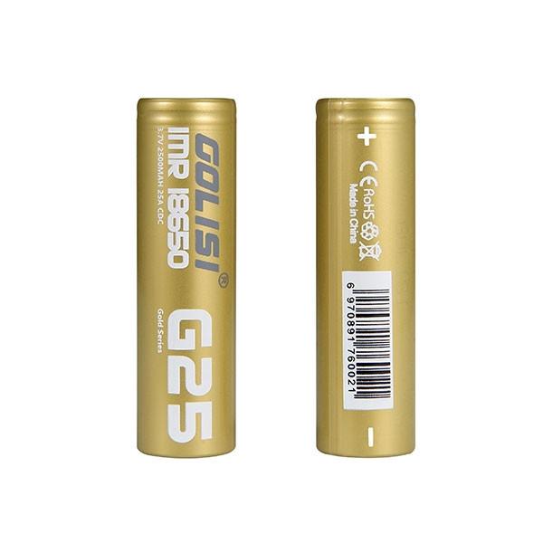 GOLISI G25 IMR 2STK 18650 25A 2500MAH
