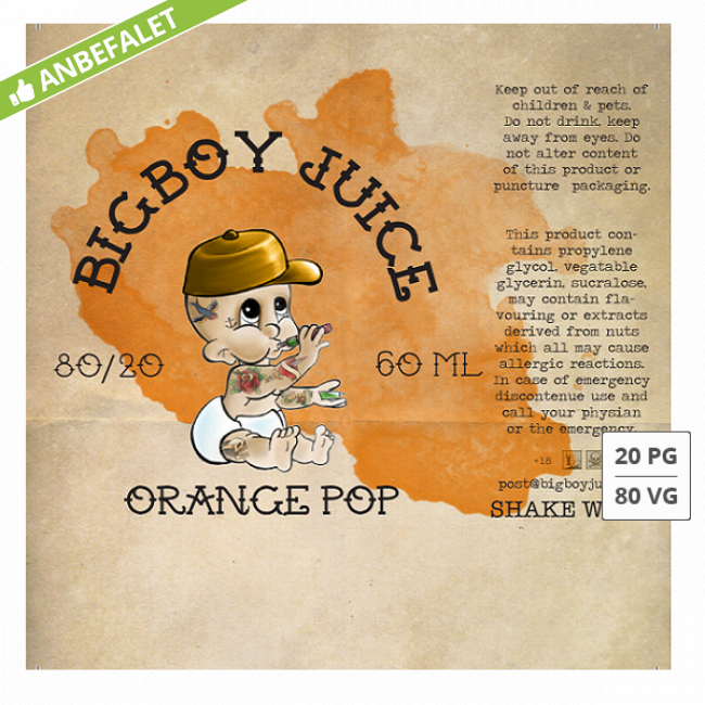 ORANGE POP BIG BOY JUICE