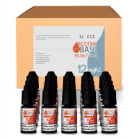 NICOTINE BASE BUDGET KIT PG30/VG70 - 12MG