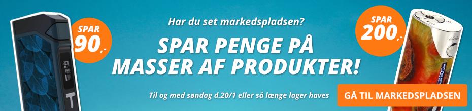E-cigaret Markedspladsen Tilbud