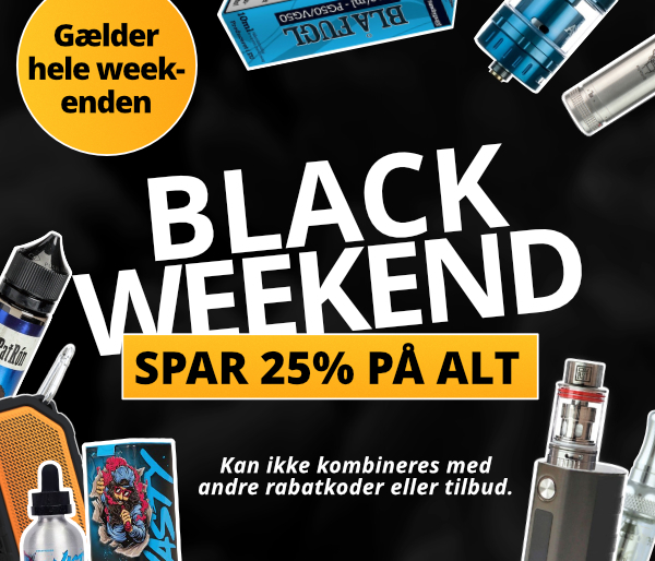 Black Friday Weekend - Spar 25% på alt